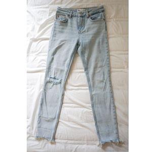 Zara Premium Collection HighWaist Distressed Jeans